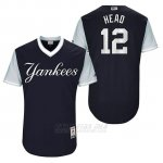 Camiseta Beisbol Hombre New York Yankees 2017 Little League World Series Chase Headley Azul
