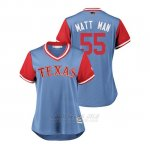 Camiseta Beisbol Mujer Texas Rangers Matt Moore 2018 Llws Players Weekend Matt Man Light Toronto Blue Jays