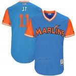 Camiseta Beisbol Hombre Miami Marlins 2017 Little League World Series Jt Realmuto Azul