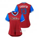 Camiseta Beisbol Mujer Philadelphia Phillies Asdrubal Cabrera 2018 Llws Players Weekend Chiquitin Scarlet