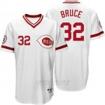 Camiseta Beisbol Hombre Cincinnati Reds 32 Jay Bruce Blanco Turn Back The Clock
