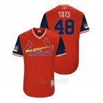 Camiseta Beisbol Hombre St. Louis Cardinals Harrison Bader 2018 Llws Players Weekend Tots Rojo