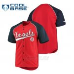 Camiseta Los Angeles Angels Personalizada Stitches Rojo Azul