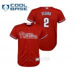 Camiseta Beisbol Nino Philadelphia Phillies Jean Segura Cool Base Replica Alternato Rojo