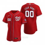 Camiseta Beisbol Hombre Washington Nationals Personalizada Autentico Alterno 2020 Rojo