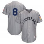 Camiseta Beisbol Hombre Cleveland Indians Mensindians Lonnie Chisenhall Gris 1917 Turn Back The Clock
