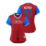 Camiseta Beisbol Mujer Philadelphia Phillies Pat Neshek 2018 Llws Players Weekend Neshek Scarlet