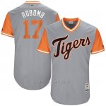 Camiseta Beisbol Hombre Detroit Tigers 2017 Little League World Series Andrew Romine Gris