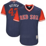 Camiseta Beisbol Hombre Boston Red Sox 2017 Little League World Series Addison Reed Azul