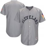 Camiseta Beisbol Hombre Cleveland Indians Gris 1917 Turn Back The Clock