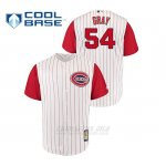 Camiseta Beisbol Hombre Cincinnati Reds 54 Sonny Gris Throwback 1961 Cool Base Blanco Rojo