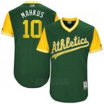 Camiseta Beisbol Hombre Oakland Athletics 2017 Little League World Series Marcus Semien Verde