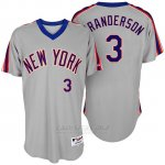 Camiseta Beisbol Hombre New York Mets New York Met Curtis Granderson Turn Back The Clock Gris