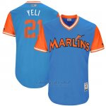 Camiseta Beisbol Hombre Miami Marlins 2017 Little League World Series Christian Yelich Azul