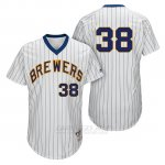 Camiseta Beisbol Hombre Milwaukee Brewers Wily Peralta Blanco 1982 Turn Back The Clock
