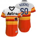Camiseta Beisbol Hombre Houston Astros 60 Dallas Keuchel Naranja Turn Back The Clock