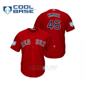 Camiseta Beisbol Hombre Boston Red Sox Craig Kimbrel Cool Base Entrenamiento de Primavera 2019 Rojo