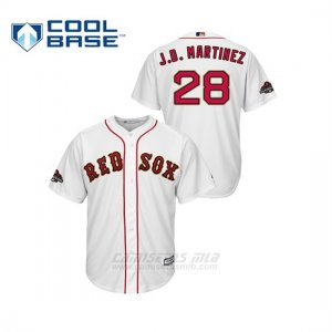 Camiseta Beisbol Hombre Boston Red Sox J.d. Martinez 2019 Gold Program Cool Base Blanco