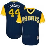 Camiseta Beisbol Hombre San Diego Padres 2017 Little League World Series Hector Sanchez Azul