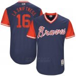 Camiseta Beisbol Hombre Atlanta Braves 2017 Little League World Series 16 Lane Adams Azul