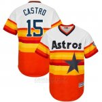 Camiseta Beisbol Hombre Houston Astros Jason Castro Turn Back The Clock Naranja
