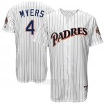 Camiseta Beisbol Hombre San Diego Padres San Diego Wil Meyers Blanco Turn Back The Clock
