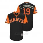 Camiseta Beisbol Hombre San Francisco Giants Alen Hanson 2018 Llws Players Weekend El Chamaquito Negro