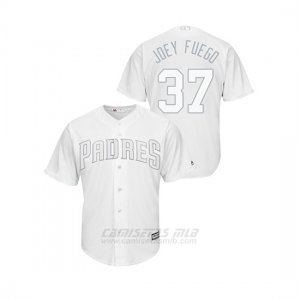 Camiseta Beisbol Hombre San Diego Padres Joey Lucchesi 2019 Players Weekend Replica Blanco