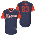 Camiseta Beisbol Hombre Atlanta Braves 2017 Little League World Series 23 Danny Santana Azul