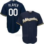 Camiseta Milwaukee Brewers Personalizada Azul