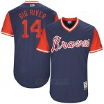 Camiseta Beisbol Hombre Atlanta Braves 2017 Little League World Series 14 Rio Ruiz Azul