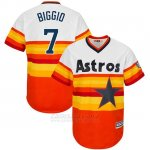 Camiseta Beisbol Hombre Houston Astros Craig Biggio Turn Back The Clock Naranja