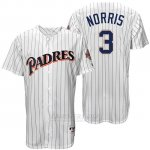 Camiseta Beisbol Hombre San Diego Padres Derek Norris Blanco Turn Back The Clock