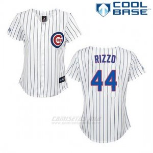 Camiseta Beisbol Hombre Chicago Cubs 44 Anthony Rizzo Blanco Cool Base