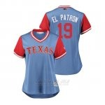 Camiseta Beisbol Mujer Texas Rangers Jurickson Profar 2018 Llws Players Weekend El Patron Light Toronto Blue Jays