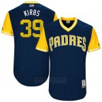 Camiseta Beisbol Hombre San Diego Padres 2017 Little League World Series Kirby Yates Azul