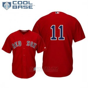 Camiseta Beisbol Hombre Boston Red Sox Rafael Devers Cool Base Majestic Alterno Replica Scarlet