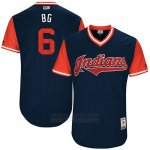 Camiseta Beisbol Hombre Cleveland Indians 2017 Little League World Series Brandon Guyer Azul