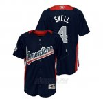 Camiseta Beisbol Nino All Star Game Majestic Blake Snell 2018 Primera Run Derby American League Azul
