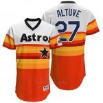 Camiseta Beisbol Hombre Houston Astros 27 Jose Altuve Naranja Turn Back The Clock