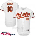 Camiseta Beisbol Hombre Baltimore Orioles 10 Adam Jones Blanco Flex Base Jugador