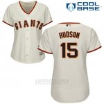 Camiseta Beisbol Mujer San Francisco Giants San Francisco Tim Hudson Cool Base Crema