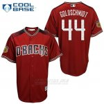 Camiseta Beisbol Hombre Arizona Diamondbacks 44 Paul Goldschmidt Arizona 2017 Entrenamiento de Primavera Cool Base