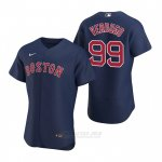 Camiseta Beisbol Hombre Boston Red Sox Alex Verdugo Autentico Alterno 2020 Azul