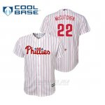 Camiseta Beisbol Nino Philadelphia Phillies Andrew Mccutchen Cool Base Replica Primera Blanco