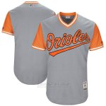 Camiseta Beisbol Hombre Baltimore Orioles Players Weekend 2017 Personalizada Gris
