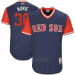 Camiseta Beisbol Hombre Boston Red Sox 2017 Little League World Series Eduardo Nunez Azul