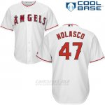 Camiseta Beisbol Hombre Los Angeles Angels 47 Ricky Nolasco Blanco Cool Base