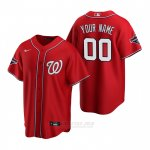 Camiseta Beisbol Hombre Washington Nationals Personalizada Replica Rojo
