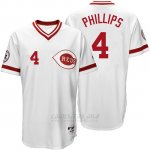 Camiseta Beisbol Hombre Cincinnati Reds 4 Brandon Phillips Blanco Turn Back The Clock